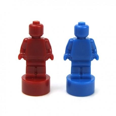 Lego Accessoires Minifigure Deux Statuettes (Bleu & Rouge foncé)