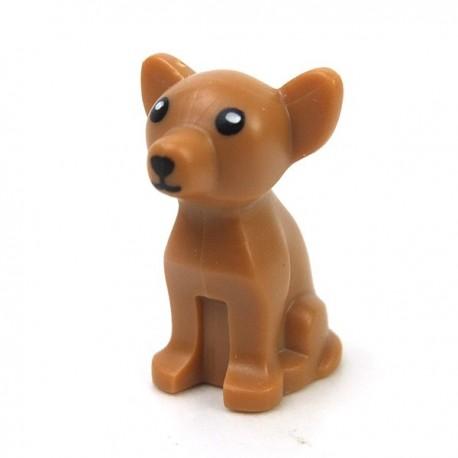 Lego Accessoires Minifigure Chien Chihuahua (Medium Dark Flesh)