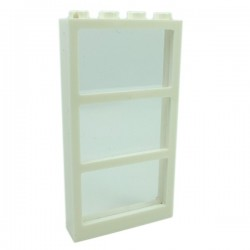 Lego - Window 1x4x6 Frame with 3 Panes & Trans-Clear Glass