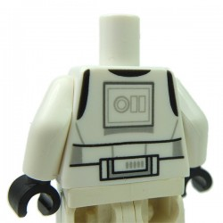 Lego - White Torso SW Armor Stormtrooper, Detailed Armor without Shoulder Belts (Rebels Cartoon Style)