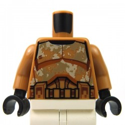 Lego - White Torso SW Armor Camouflage Clone Trooper