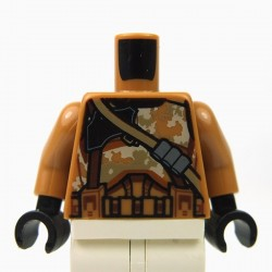 Lego - White Torso SW Armor Camouflage Clone Trooper with Dark Tan Diagonal Belt