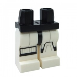 Lego - Black Hips & White Legs - SW Stormtrooper Black & Gray Markings