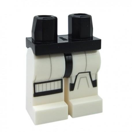 Lego Accessoires Minifigure Jambes SW Stormtrooper marquages noir et gris