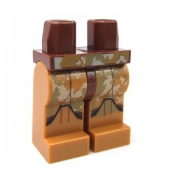 Lego - Reddish Brown Hips & Medium Dark Flesh Legs with SW Clone Trooper Camouflage Armor
