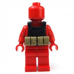 Accessoires Lego Minifigure custom Si-Dan Toys - Tactical Vest BS14 (Noir)