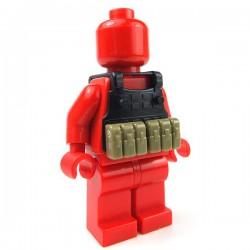 Accessoires Lego Minifigure custom Si-Dan Toys - Police Vest BS12 (Noir)