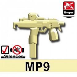 Lego Accessoires Minifig Custom Si-Dan Toys - MP9 (Beige)