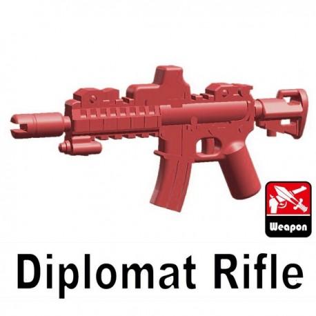 Lego Accessoires Minifig Custom Si-Dan Toys - Diplomat Rifle (Rouge foncé)