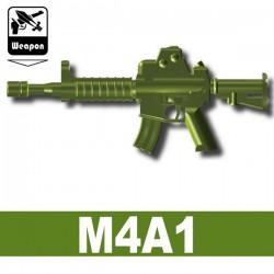 Lego Accessoires Minifig Custom Si-Dan Toys - M4A1 (Vert Militaire)