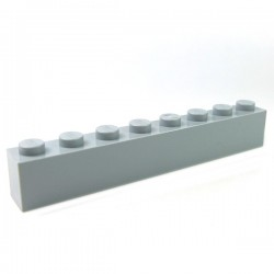 LEGO - Brique 1x8 (Light Bluish Gray)