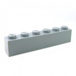 LEGO - Brique 1x6 (Light Bluish Gray)