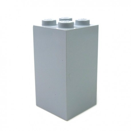 LEGO - Brique 2x2x3 (Light Bluish Gray)