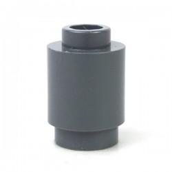 LEGO - Brique ronde 1x1 (Dark Bluish Gray)