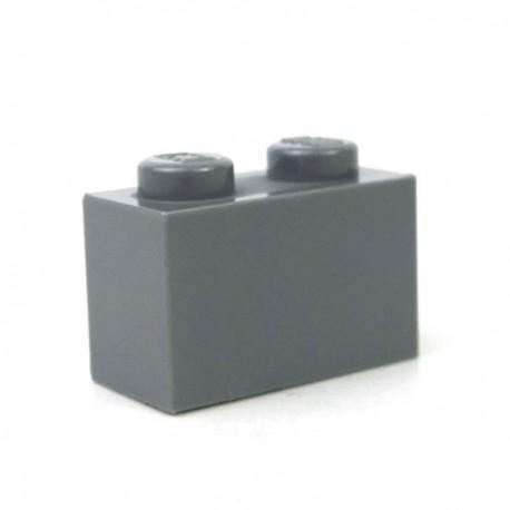 LEGO - Brique 1x2 (Dark Bluish Gray)
