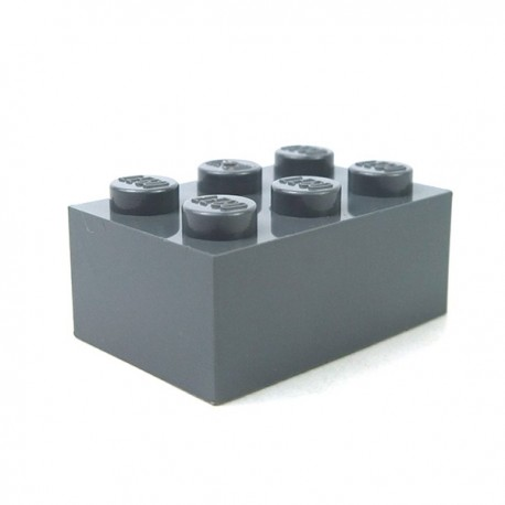 LEGO - Brique 2x3 (Dark Bluish Gray)