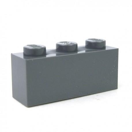 LEGO - Brique 1x3 (Dark Bluish Gray)