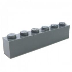 LEGO - Brique 1x6 (Dark Bluish Ggray)