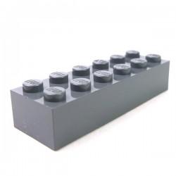 LEGO - Brique 2x6 (Dark Bluish Gray)
