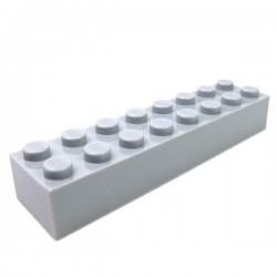 LEGO - Brique 2x8 (Light Bluish Gray)