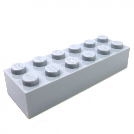 LEGO - Brique 2x6 (Light Bluish Gray)