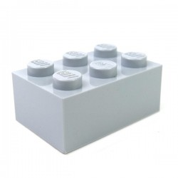 LEGO - Brique 2x3 (Light Bluish Gray)