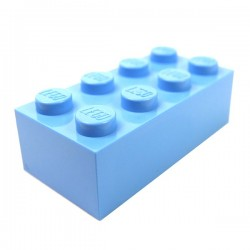 LEGO - Brick 2x4 (Medium Blue)