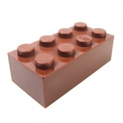 LEGO - Brique 2x4 (Reddish Brown)