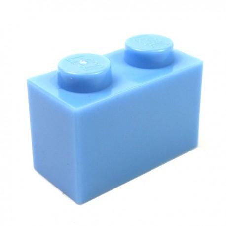 LEGO - Brick 1x2 (Medium Blue)