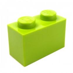 LEGO - Brique 1x2 (Lime)