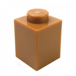 LEGO - Brick 1x1 (Medium Dark Flesh)