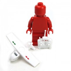 Lego Accessoires Minifig Custom Si-Dan Toys - UAV SWAN marquage US et 168 (Cold White)