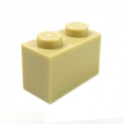 LEGO - Brick 1x2 (Tan)