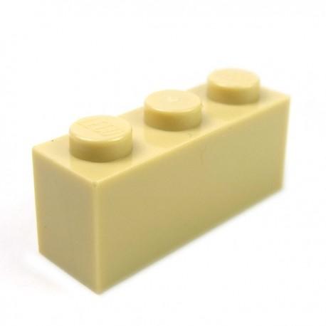 LEGO - Brique 1x3 (Beige)