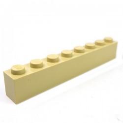 LEGO - Brique 1x8 (Beige)