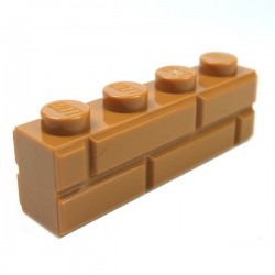 LEGO - Brick 1x4 Modified with Masonry Profile Medium Dark Flesh