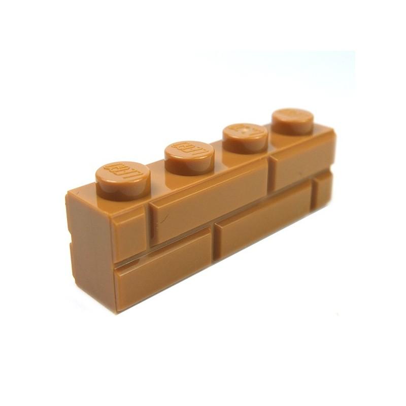 Lego 50 New Reddish Brown Bricks Modified 1 x 4 Log Pieces