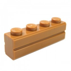 LEGO - Brique 1x4 Modified (with Masonry Profile - Medium Dark Flesh)