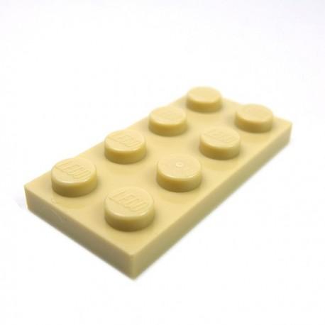 LEGO - Plate 2x4 (Tan)
