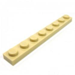 LEGO - Plate 1x8 (Tan)