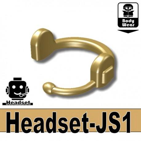 Lego Minifig accessoires Si-Dan Toys - Headset-JS1 (Beige foncé)