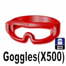 Lego Accessoires Minifig Si-Dan Toys - Lunettes X500 (Rouge Foncé)