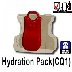 Lego Minifig Si-Dan Toys - Sac à dos Hydratation (Rouge Foncé)