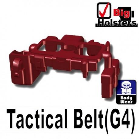 Lego Minifig Si-Dan Toys - Ceinture Tactical G4 (Rouge Foncé)