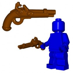 BrickWarriors - Flintlock Pistol (Brown)