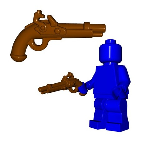 Lego Minifig BrickWarriors - Pistoler à Silex (Marron)