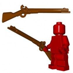Lego Minifig BrickWarriors - Mousquet à Silex (Marron)