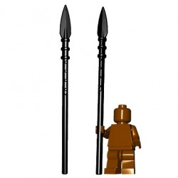 Lego Minifig BrickWarriors - Brochet (Noir)