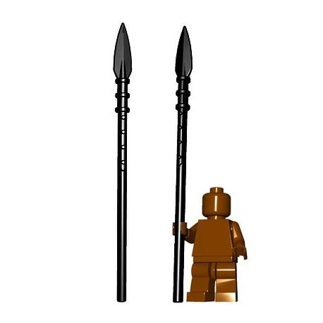 Lego Minifig BrickWarriors - Brochet (Noir)