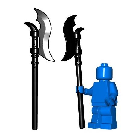 Lego Minifig BrickWarriors - Voulge (Noir)